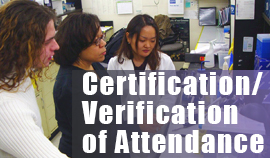 Certification of Attendance(COA)