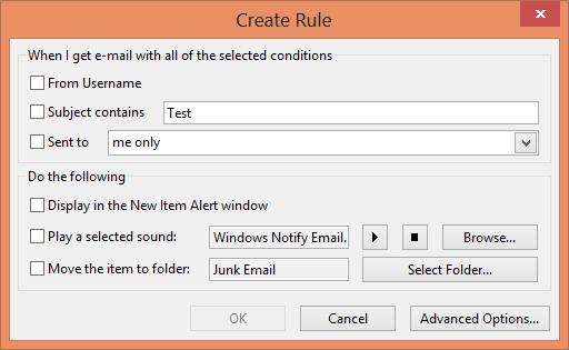 Create Rule